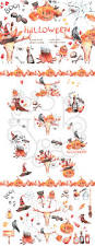 repeat halloween background halloween watercolor clipart by digitaldream thehungryjpeg com