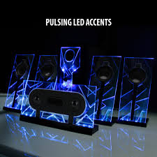 Minimalist Computer Speakers by 5 1 Surround Sound Computer Speakers With 80 Watts And Blue Led