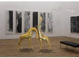 giraffe animal statue park garden decorative resin fiberglass
