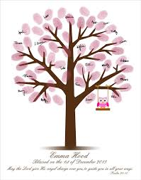baby shower fingerprint tree baby shower fingerprint tree baby shower guestbook