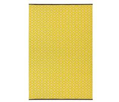 Yellow And White Outdoor Rug Psychedelia Outdoor Rug Yellow White 90 X 150cm Green