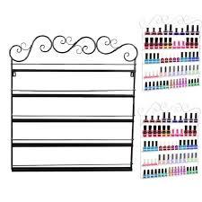 2017 retro iron nail polish display stand cosmetic nail shop