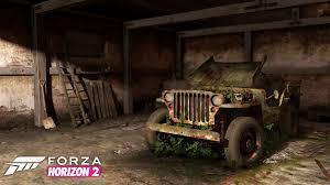 willys jeep artstation forza horizon 2 barn find willys jeep 1945 dean