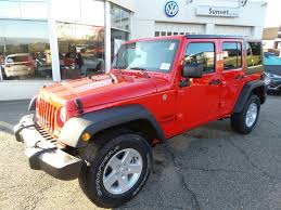 jeep unlimited red red jeep wrangler in ohio for sale used cars on buysellsearch