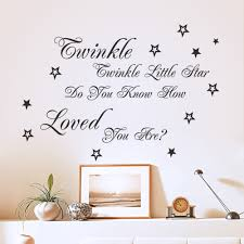 Decoration Star Wall Decals Home by Aliexpress Com Buy Lovely Twinkle Twinkle Little Star Decor