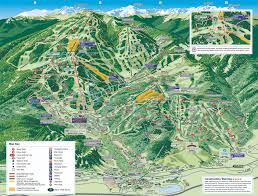 Colorado Ski Resort Map by Summer Trail Maps Beavercreek Com