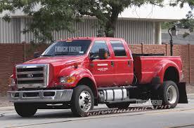 caught ford f 750 mega pickup prototype truck trend