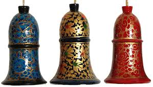 paper mache home decor hand painted hanging paper mache bells from kashmir home décor