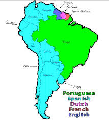 south america speaking countries map america map