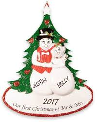 wedding christmas ornaments free personalization
