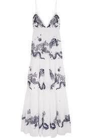 cheap roberto cavalli white embroidered cotton voile maxi dress