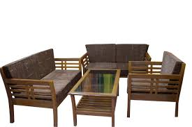 Wooden Sofa Chair With Cushions Simple Wooden Sofa Designs Home Design