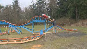 oak harbor dad builds backyard roller coaster for son king5 com