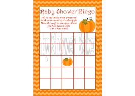 pumpkin theme baby shower bingo game little pumpkin baby