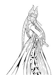 ahsoka tano coloring pages ahsoka tano lineart josephb222 on