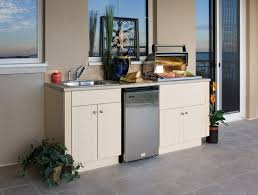 simple outdoor kitchen cabinets polymer good home design interior