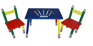 Wooden Kids Desks by Pencil Childrens Kids Wood Wooden Table Desk And 2 Chairs Amazon