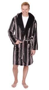 robe chambre polaire hommes de luxe à rayures à capuche robe chambre peignoir chambre
