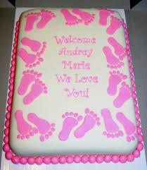 pink footprint baby shower cake cakecentral com