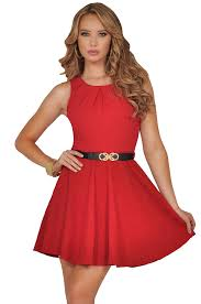 red black dress with belt dress images