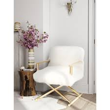 faux fur desk chair furniture cool white faux fur desk chair with arms and polished