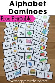 printable alphabet recognition games alphabet dominoes busy bags printable alphabet and pre school