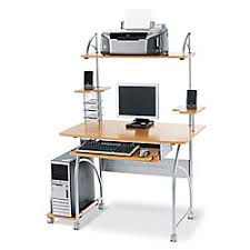 Office Depot Computer Desks Realspace Zillope Computer Desk 57 78 H X 47 110 W X 26 35 D Honey