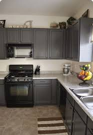 Black Paint For Kitchen Cabinets Kitchens With Grey Painted Cabinets Painting Kitchen Cabinets