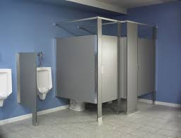 bathroom partition ideas minimalist bathroom partition with gray and blue color combination