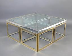 vintage square coffee table vintage large glass and metal lovely glass and metal coffee table
