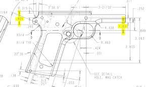 source more item colt acp pistol grip frame blueprints sale