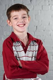 portrait of smiling boy 10 years stock photo colourbox