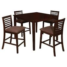 espresso dining room set mibasics glenwood 5pc pub dining table set in espresso target