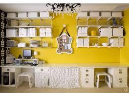 le de bureau jaune peinture murale 107 idées couleurs pour la maison room