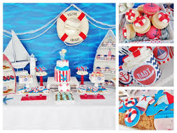 sailor baby shower decorations the ahoy it s a boy setup as the given photographs show is