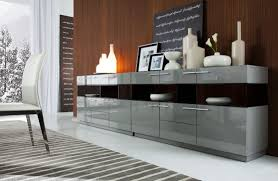 dining room sideboard modern grey gloss buffet