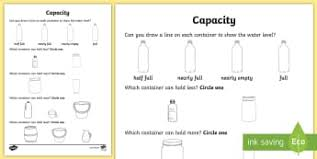 size weight and capacity primary resources shapes page 2
