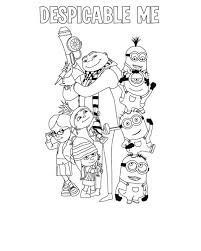 picture despicable coloring netart