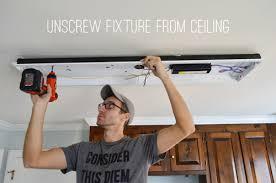 How To Install A Fluorescent Light Fixture Replace Fluorescent Light Fixture In Kitchen House Beautiful