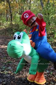 yoshi costume spirit halloween cool homemade illusion costume for a toddler its me mario and