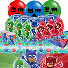 pj masks party supplies pack 16 plates cups napkins