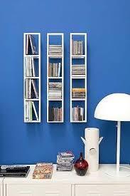 Wall Mounted Dvd Shelves by Set Of 2 White Ikea Lerberg Cd Dvd Rack Wall Mount Shelf Metal New