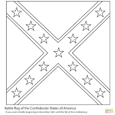American Flag To Color Battle Flag Of The Confederate States Of America Coloring Page