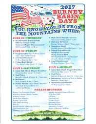 burney basin days events pit river country