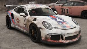 this gt3 rs has been wrapped to look like a barn find top gear