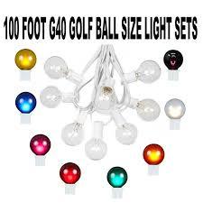 100 foot globe patio string lights 100 foot g40 bulb outdoor patio