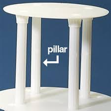 cake pillars wedding cake stand pillar white 7 cake stands
