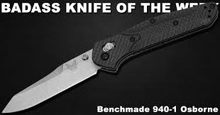 benchmade 940 1 osborne badass knife of the week knife depot