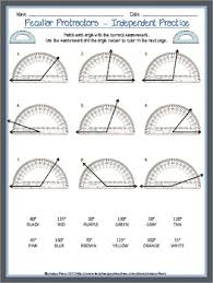 teach students to measure angles with these protractor worksheets