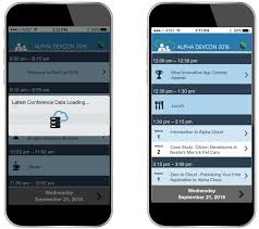 mobile app template conference application alpha software